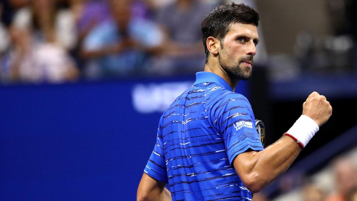 Djokovic celebra un punto ante Kudla