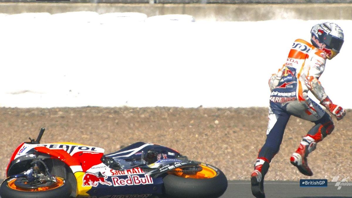 Moto GP : Crash Marquez FP2 with focus