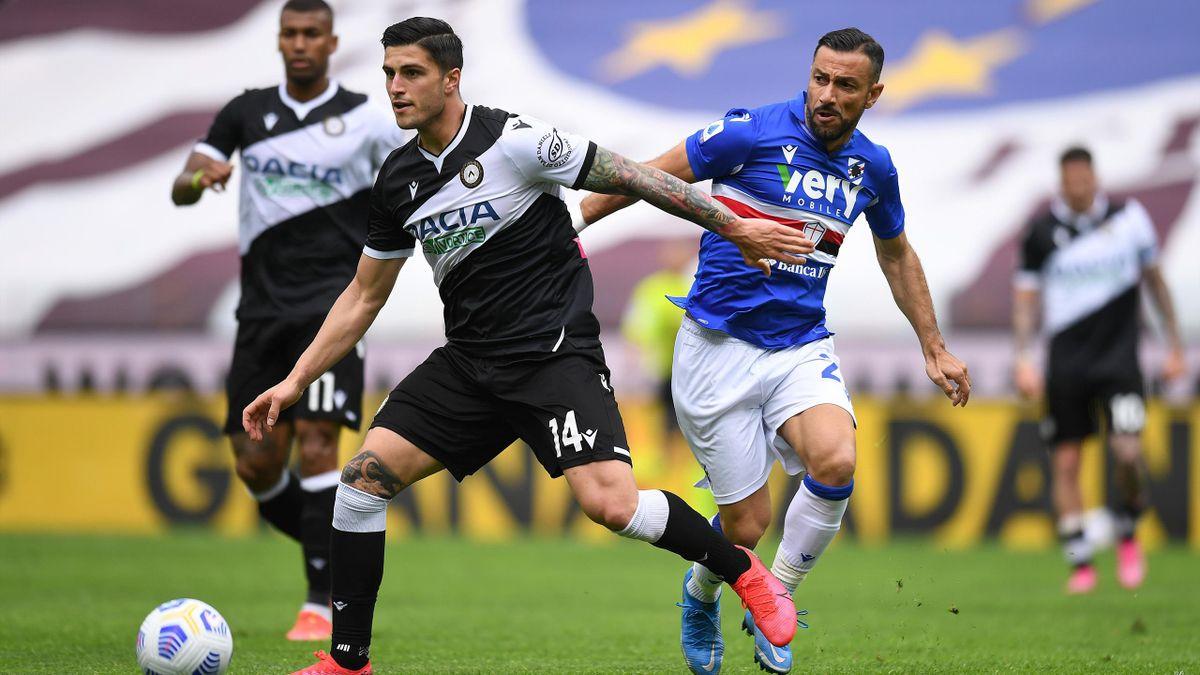 Fabio Quagliarella, Kevin Bonifazi, Udinese-Sampdoria, Getty Images
