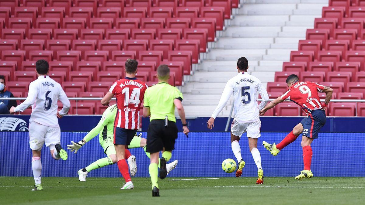 Il gol di Suarez, Atletico Madrid-Real Madrid