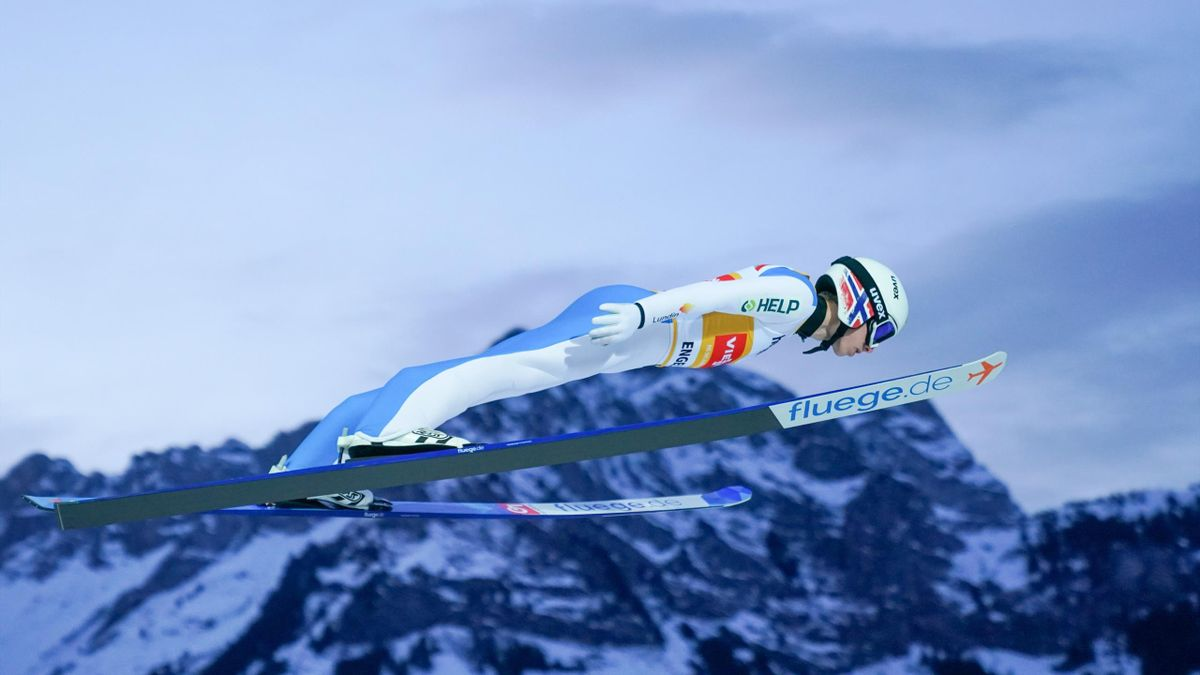 Halvor Egner Granerud of Norway jumps during the Men's HS140 at the Viessmann FIS Ski Jumping World Cup at on December 20, 2020 in Engelberg, Switzerland.