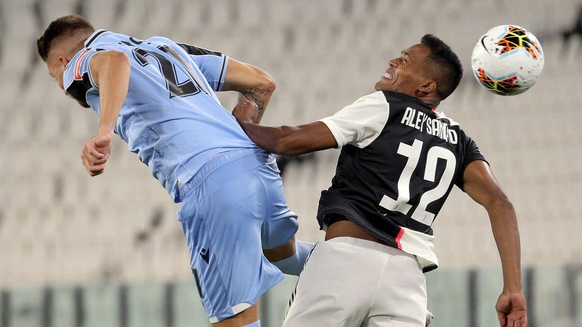 Juventus-Lazio, Serie A 2019-2020: Sergej Milinkovic-Savic e Alex Sandro (Getty Images)