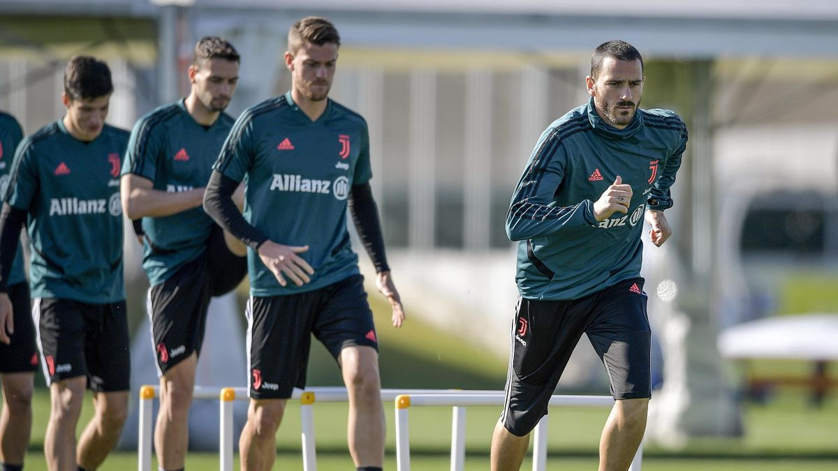 Leonardo Bonucci und Juventus Turin im Training