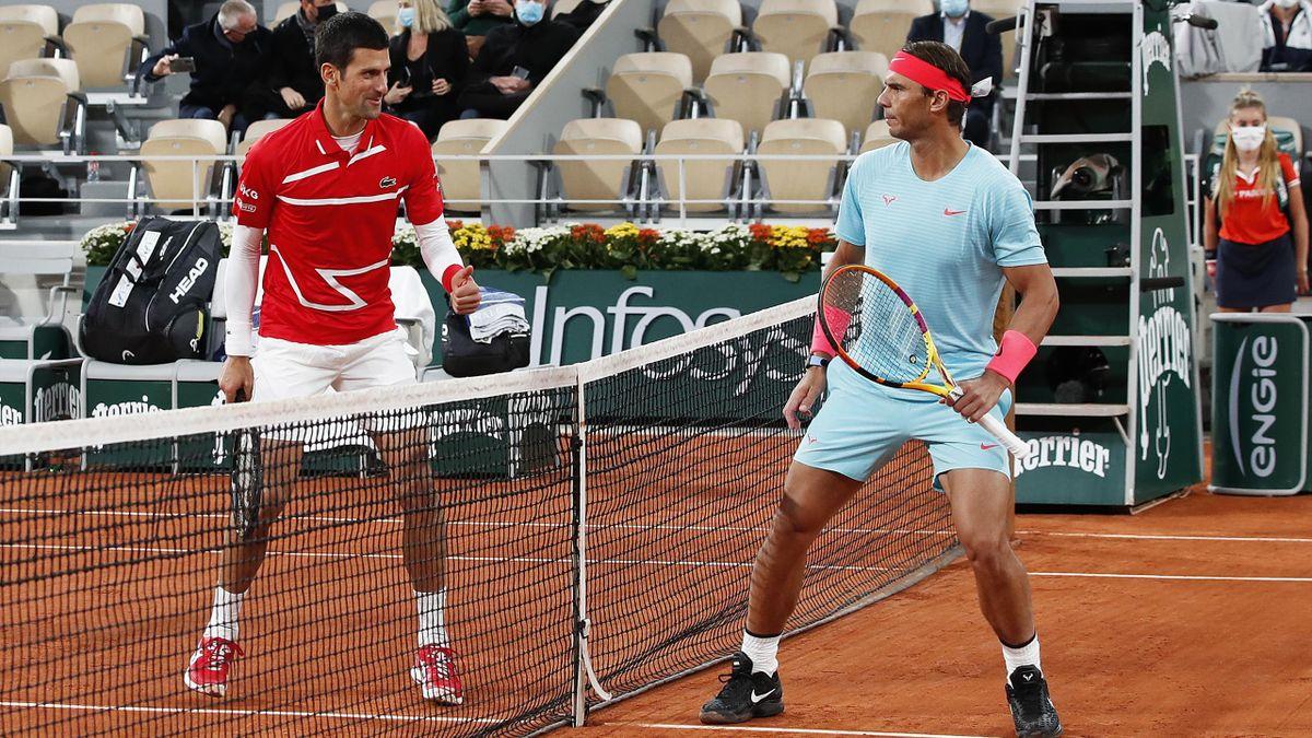 Novak Djokovic y Rafael Nadal (Roland-Garros 2020)