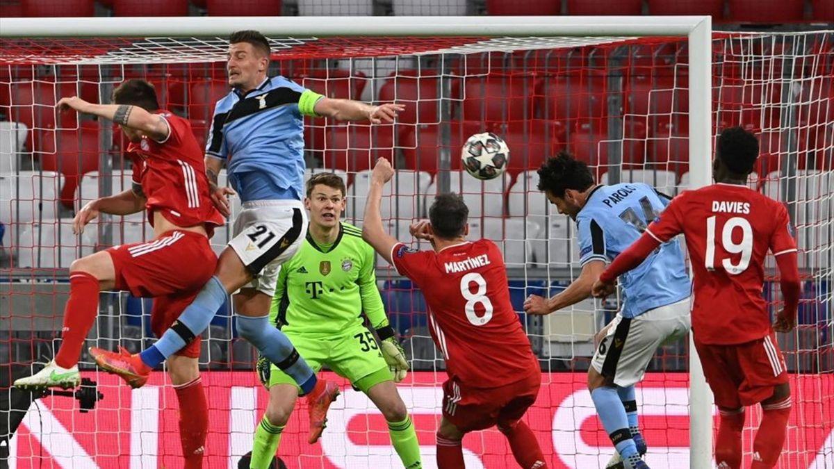 Parolo a segno in Bayern Monaco-Lazio - Champions League 2020/2021 - Getty Images