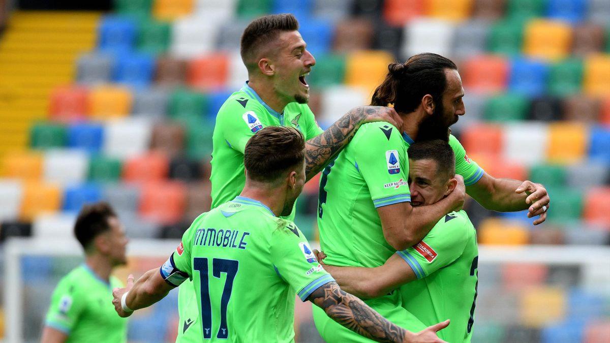 Adam Marusic esulta dopo il gol, Udinese-Lazio, Getty Images