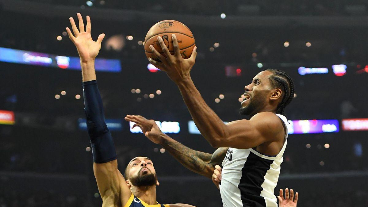 Kawhi Leonard contro Rudy Gobert, LA Clippers-Jazz, NBA 2020-21