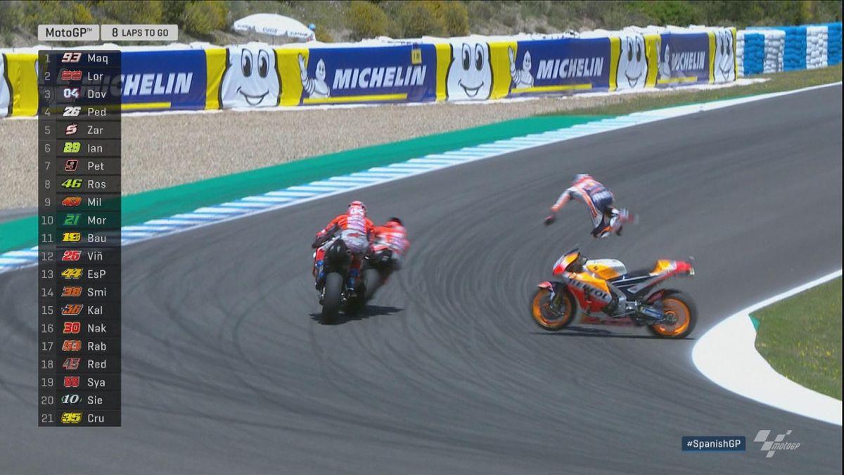 Spain GP - Moto GP _ Crash Pedrosa and co FR