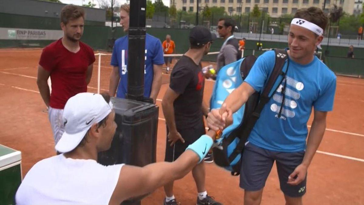 Casper Ruud og Nadal