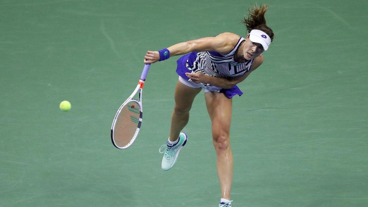 Alizé Cornet lors de l'US Open 2020