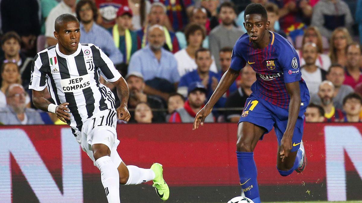 Ousmane Dembélé und Douglas Costa von Juventus Turin könnten möglicherweise ab Sommer in Turin Mannschaftskollegen werden