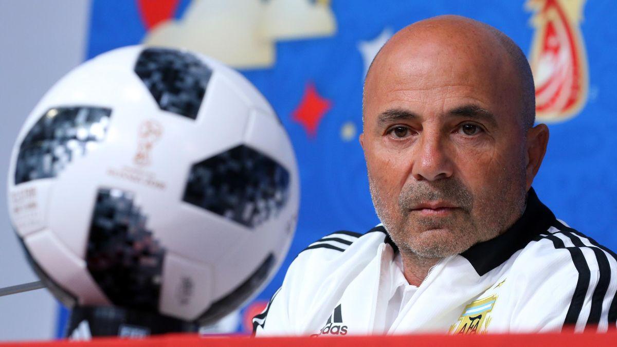 Jorge Sampaoli lors de la Coupe du monde 2018