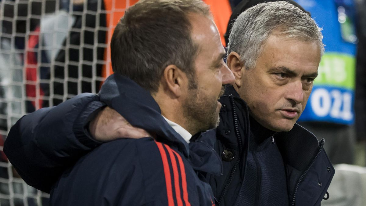 Hansi Flick (li.) und José Mourinho (re.)