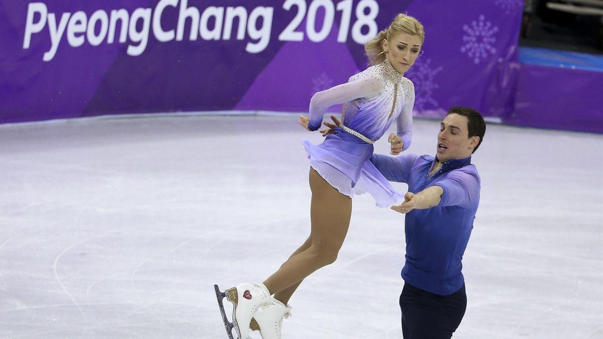 Aljona Savchenko und Bruno Massot bei den Olympischen Spielen 2018 in Pyeongchang