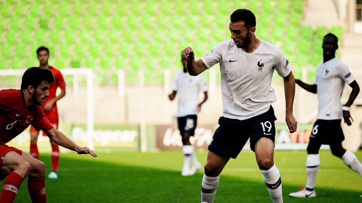 Amine Gouiri lors de l'Euro U19 avec l'équipe de France