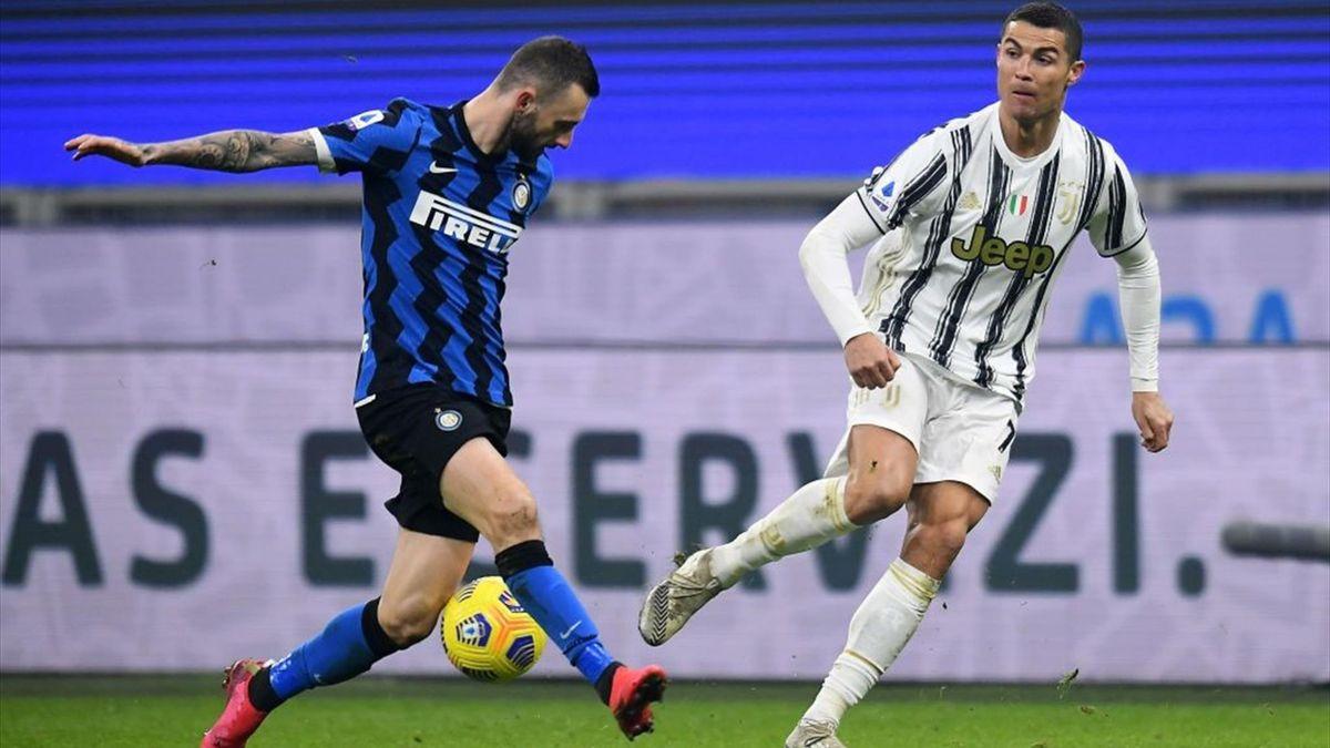 Brozovic, Cristiano Ronaldo - Inter-Juventus - Serie A 2020/2021 - Getty Images