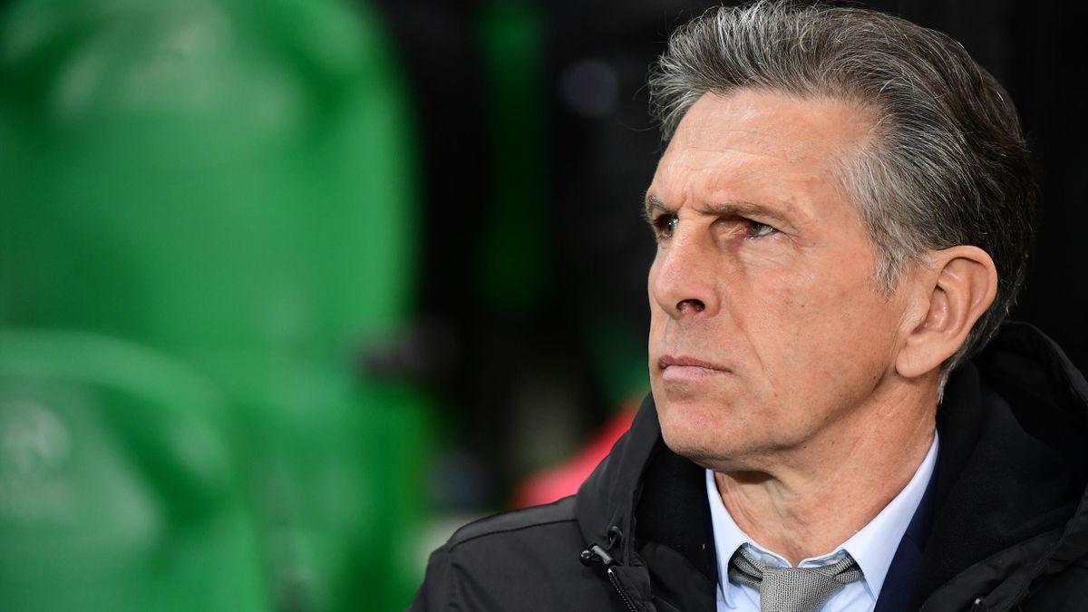 Claude Puel lors de la demi-finale de Coupe de France entre Saint-Etienne et Rennes