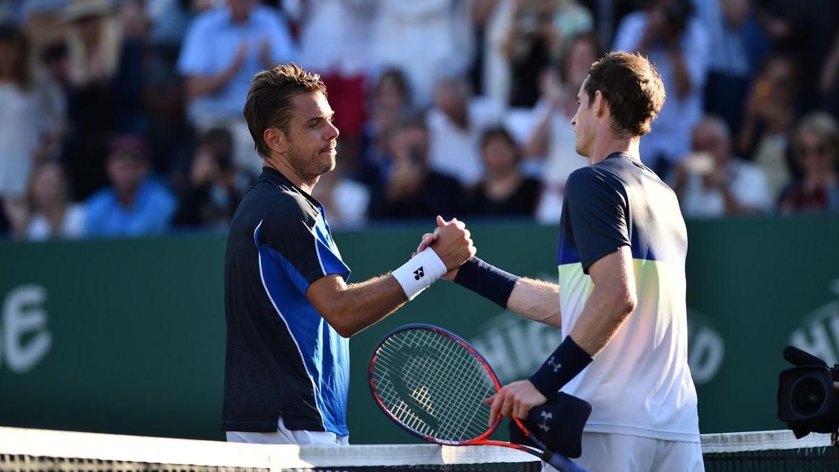 Stan Wawrinka et Andy Murray / ATP Eastbourne
