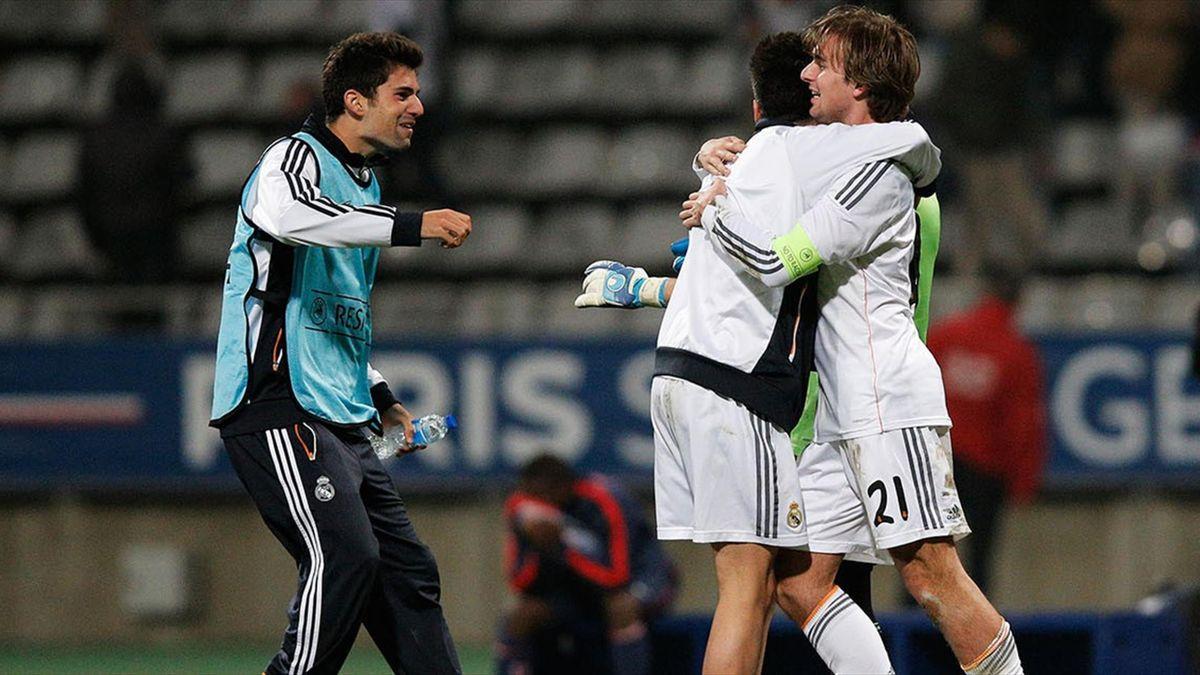 Ivan Saez (primul din dreapta) era căpitanul de la echipa de tineret a lui Real Madrid