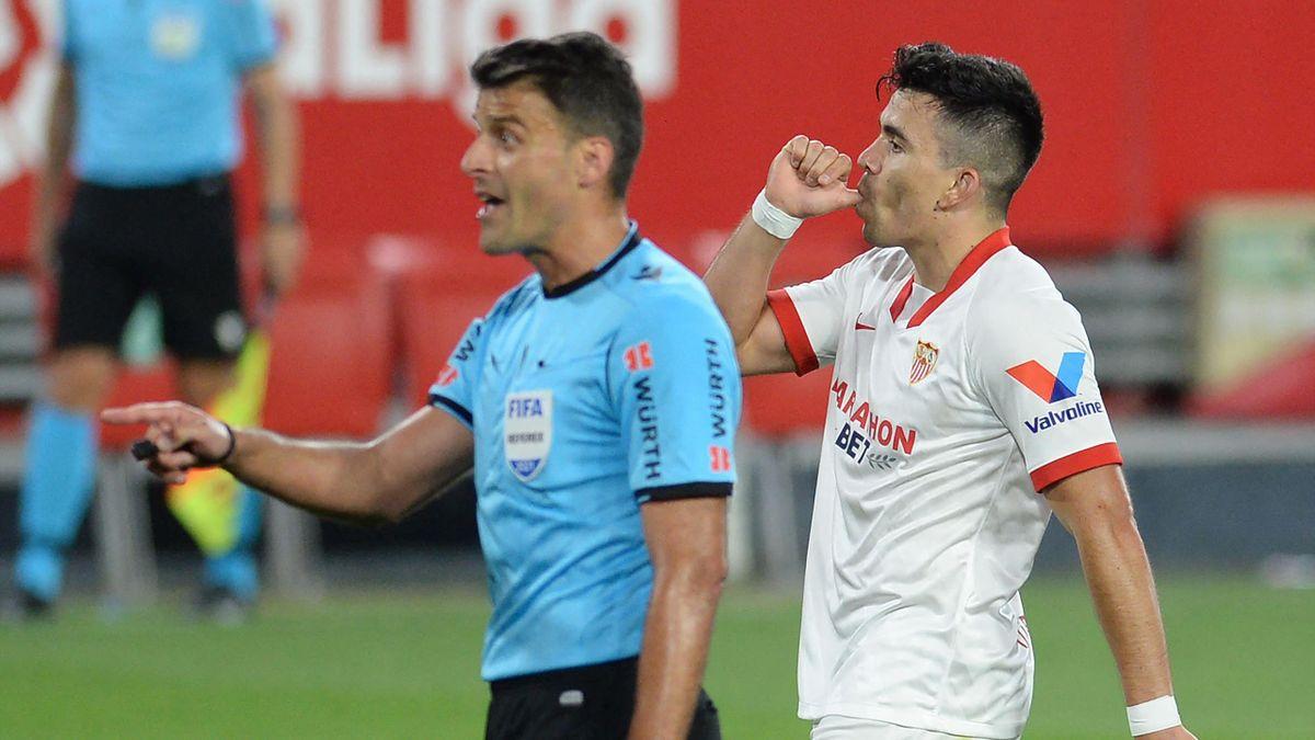 Marcos Acuna (R) celebrates