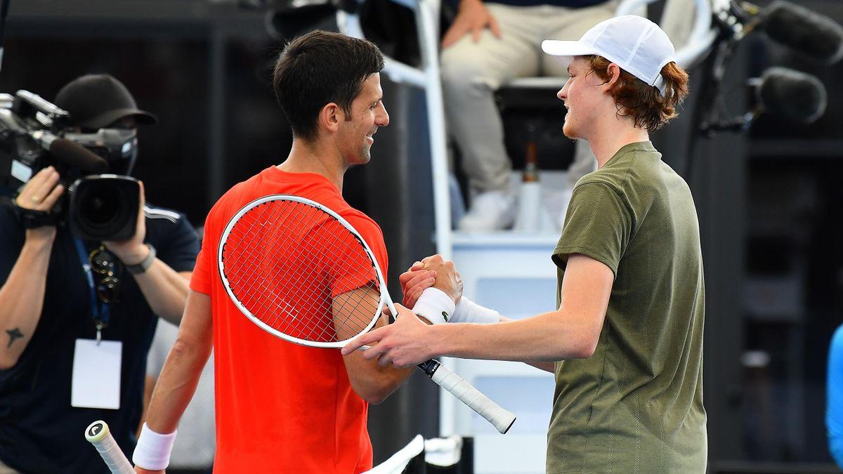 Novak Djokovic és Jannik Sinner  Adelaide