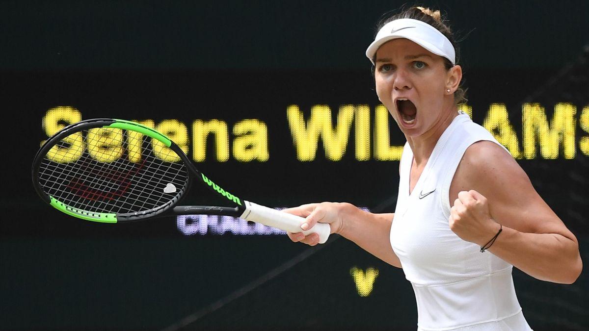 Simona Halep en finale de Wimbledon.