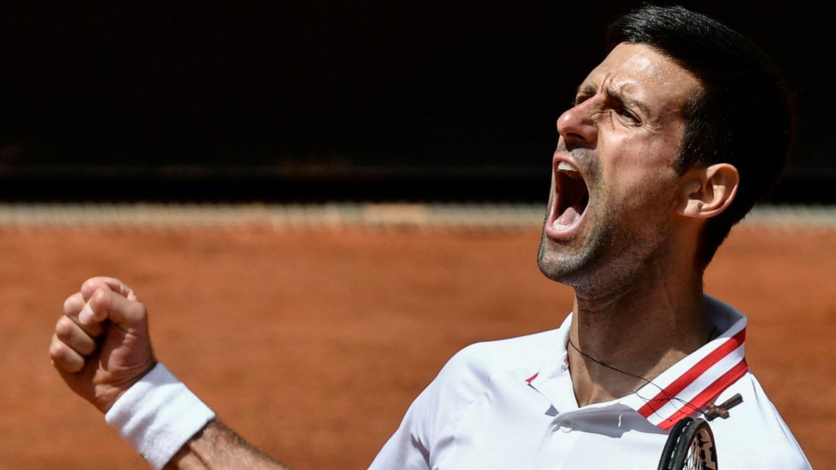 Novak Djokovic lors du M1000 de Rome