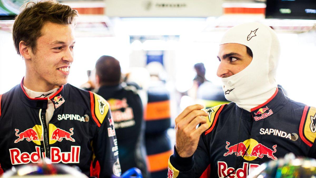 Daniil Kvyat et Carlos Sainz (Toro Rosso) au Grand Prix d'Espagne 2016