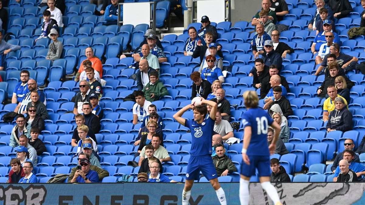 Brighton hosted a social distanced test event during a friendly with Chelsea at the end of August 2020