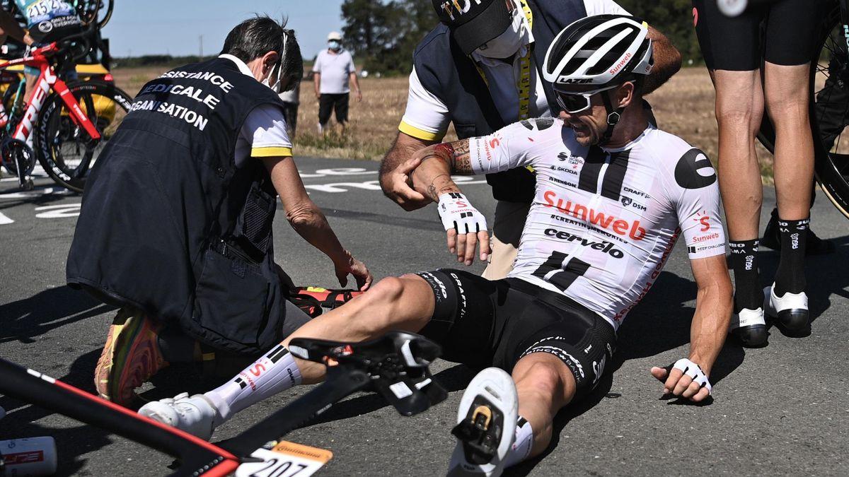 Nicolas Roche a fost victima unei căzături teribile în etapa de azi