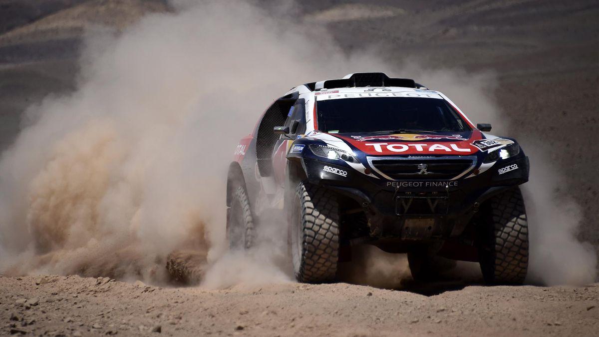 Stéphane Peterhansel lors de la quatrième étape du Dakar 2015