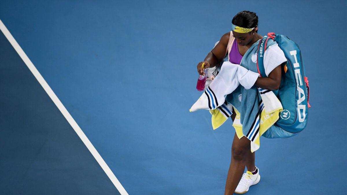 Sloane Stephens après sa défaite au 1er tour de l'Open d'Australie