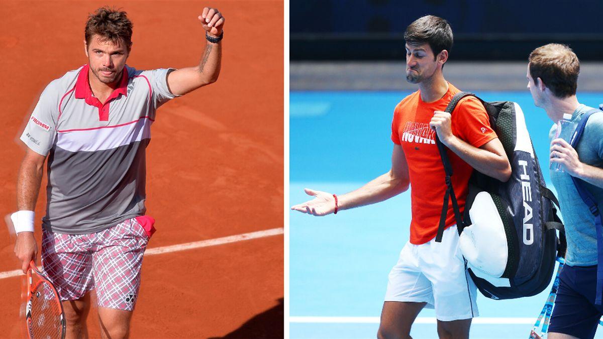 Djokovic, Murray et Wawrinka