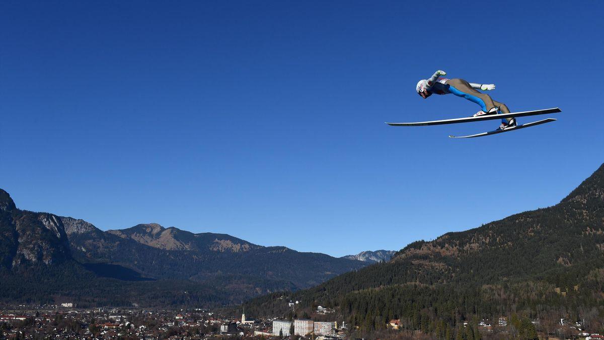 Daniel Andre Tande of Norway during his Four Hills win in Garmisch-Partenkirchen