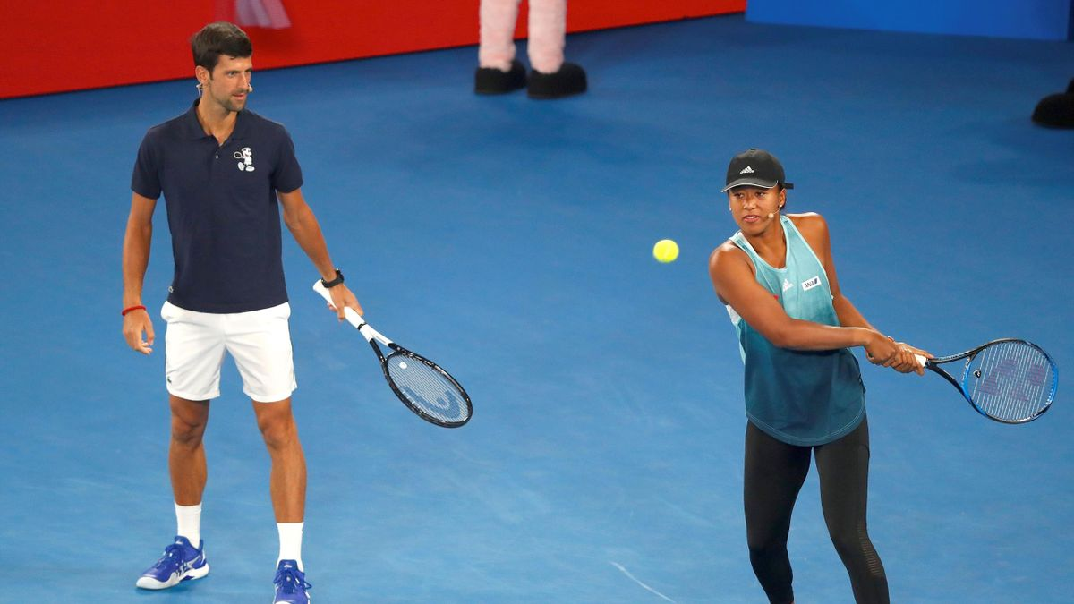 Novak Djokovic und Naomi Osaka