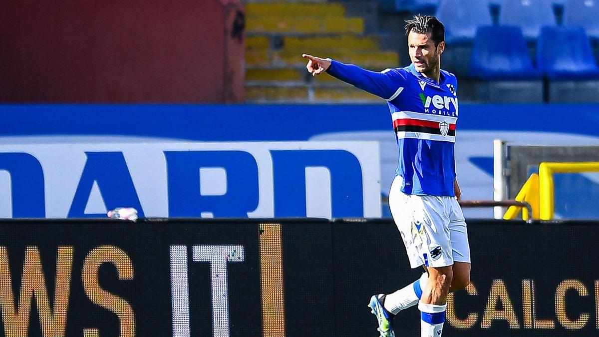 Esultanza Antonio Candreva, Sampdoria-Torino, Getty Images
