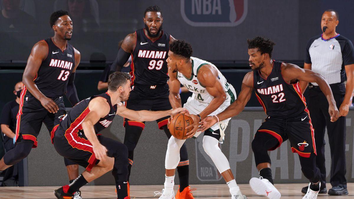 Jimmy Butler et le Heat ont muselé Giannis Antetokounmpo, le 31/08/2020 à Orlando