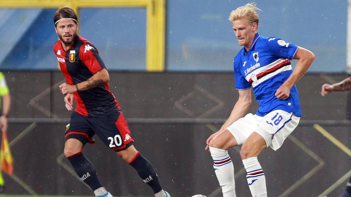 Thorsby, Schone - Sampdoria-Genoa - Serie A 2019/2020 - Imago
