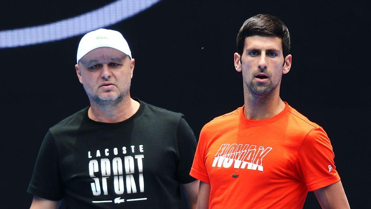 Marian Vajda & Novak Djokovic