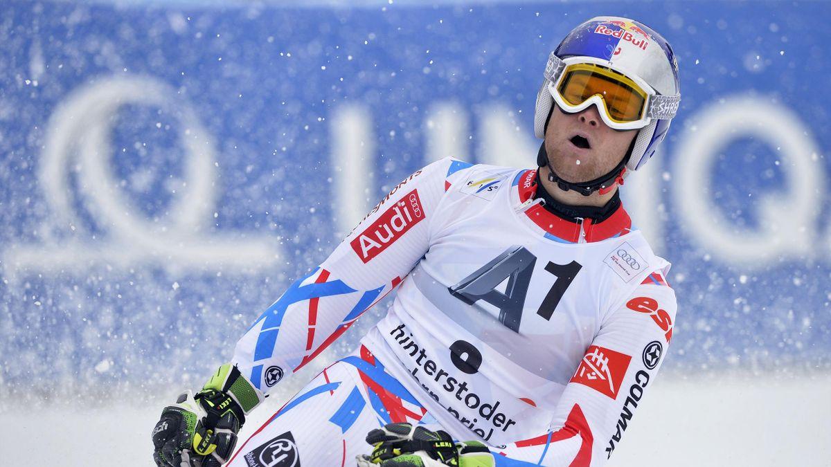 Alexis Pinturault vainqueur du géant à Hintersdoter le 27 février 2016