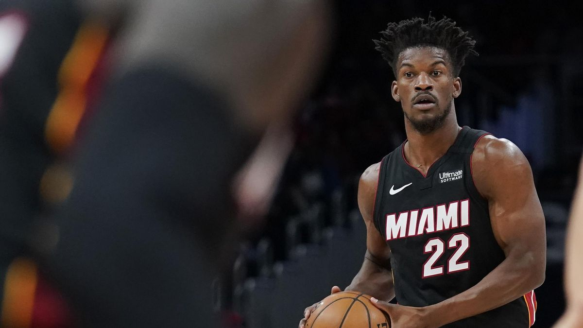 Jimmy Butler, le franchise player du Miami Heat, en action