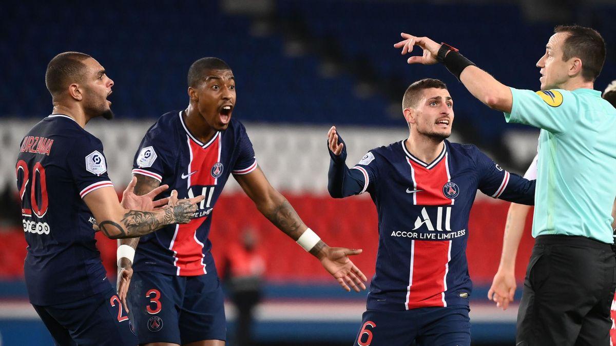 Die Spieler von Paris Saint-Germain bei der Niederlage gegen die AS Monaco