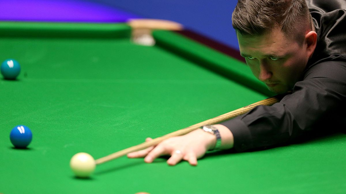Kyren Wilson in first round action at the Crucible