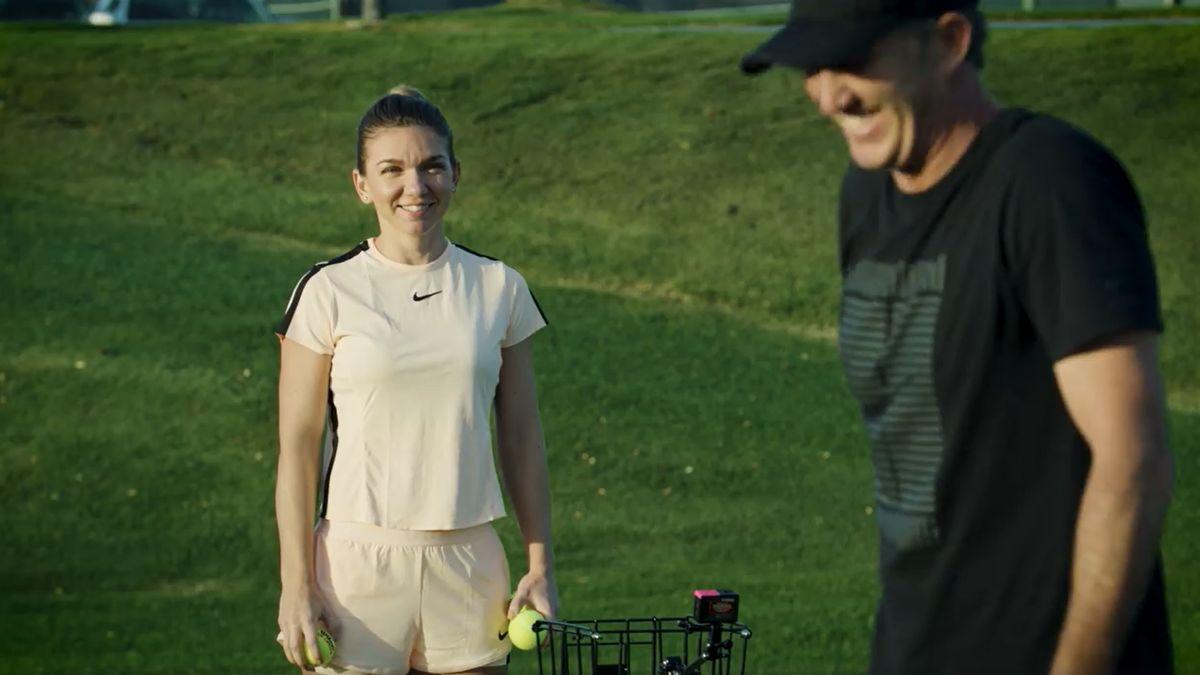 Cum o monitorizează Darren Cahill pe Simona Halep la antrenamente din Australia