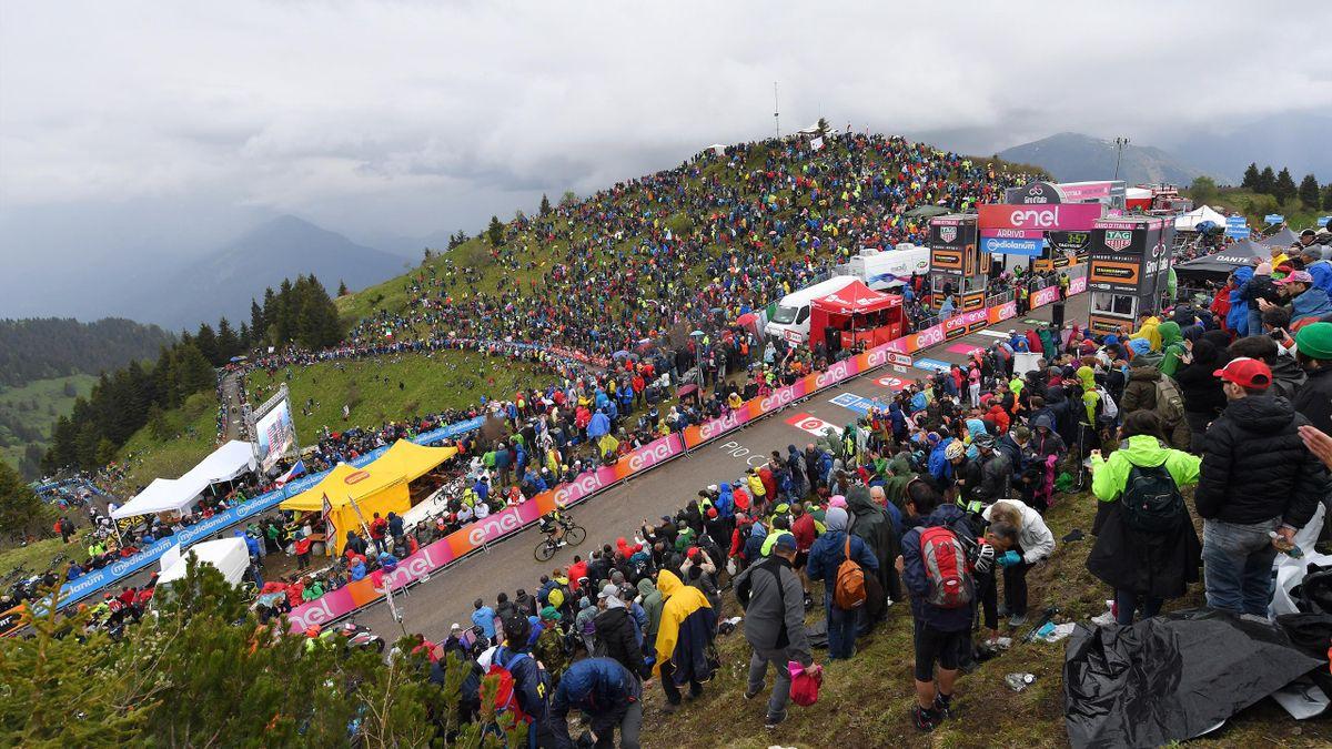 Arrival / Jack Haig of Australia and Team Mitchelton-Scott / Monte Zoncolan (1730m) / Mountains / Fans / Public / Landscape / during the 101st Tour of Italy 2018, Stage 14 a 186km stage from San Vito Al Tagliamento to Monte Zoncolan 1730m / Giro d'Italia