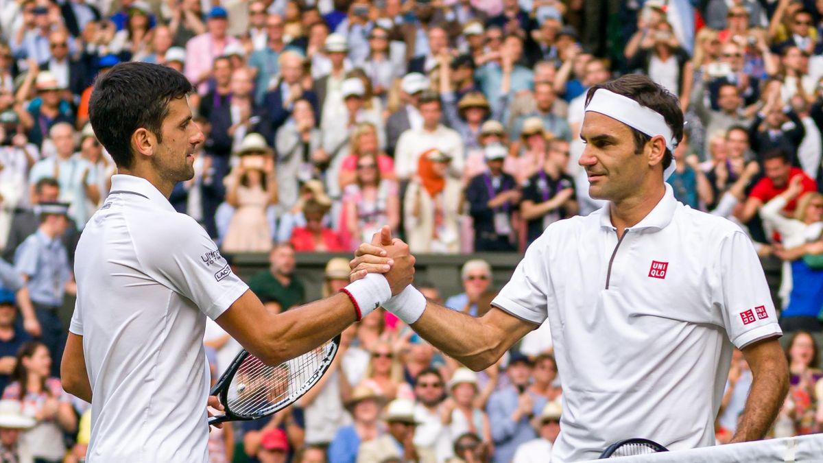 Novak Djokovic (links) hat die Tennis-Rekorde von Roger Federer ins Visier genommen
