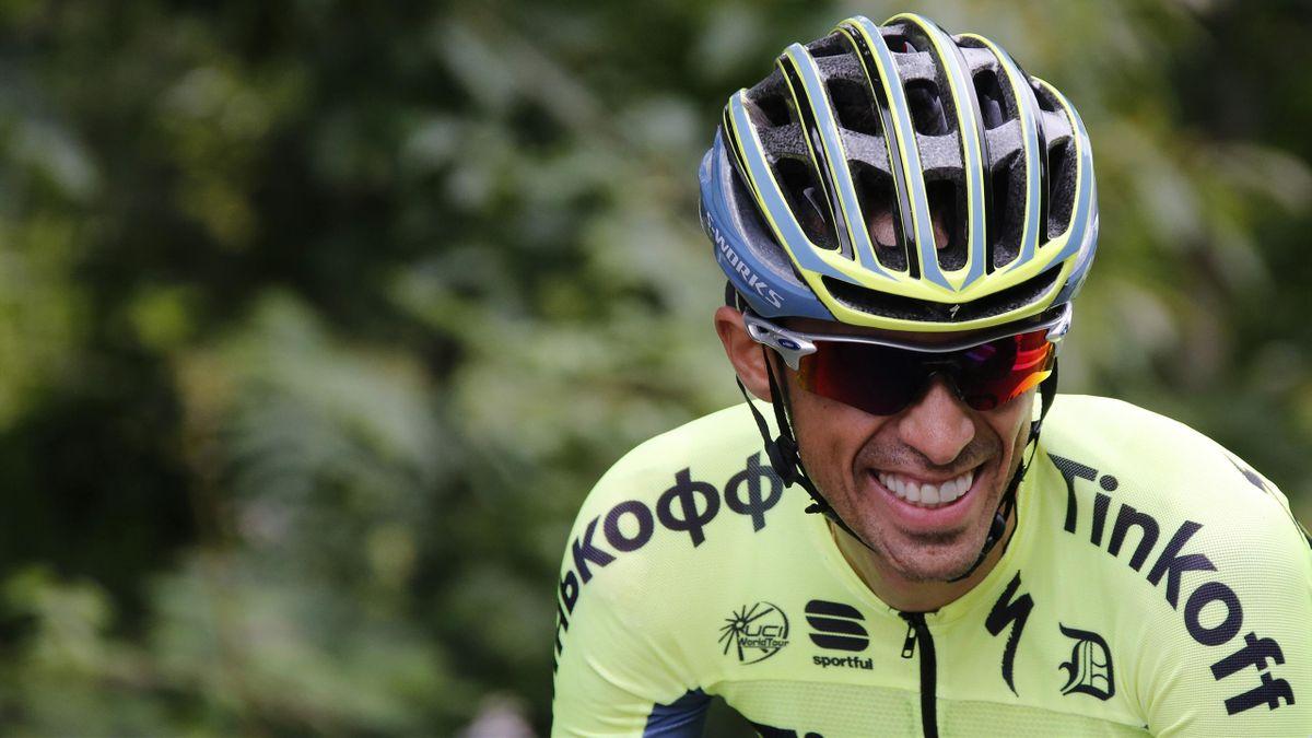 Tinkoff team rider Alberto Contador of Spain rides during the Tour de France