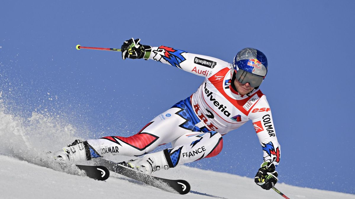 Alexis Pinturault of France in action during the FIS World Ski Championships Men's Giant Slalom on February 15, 2019 in Are Sweden