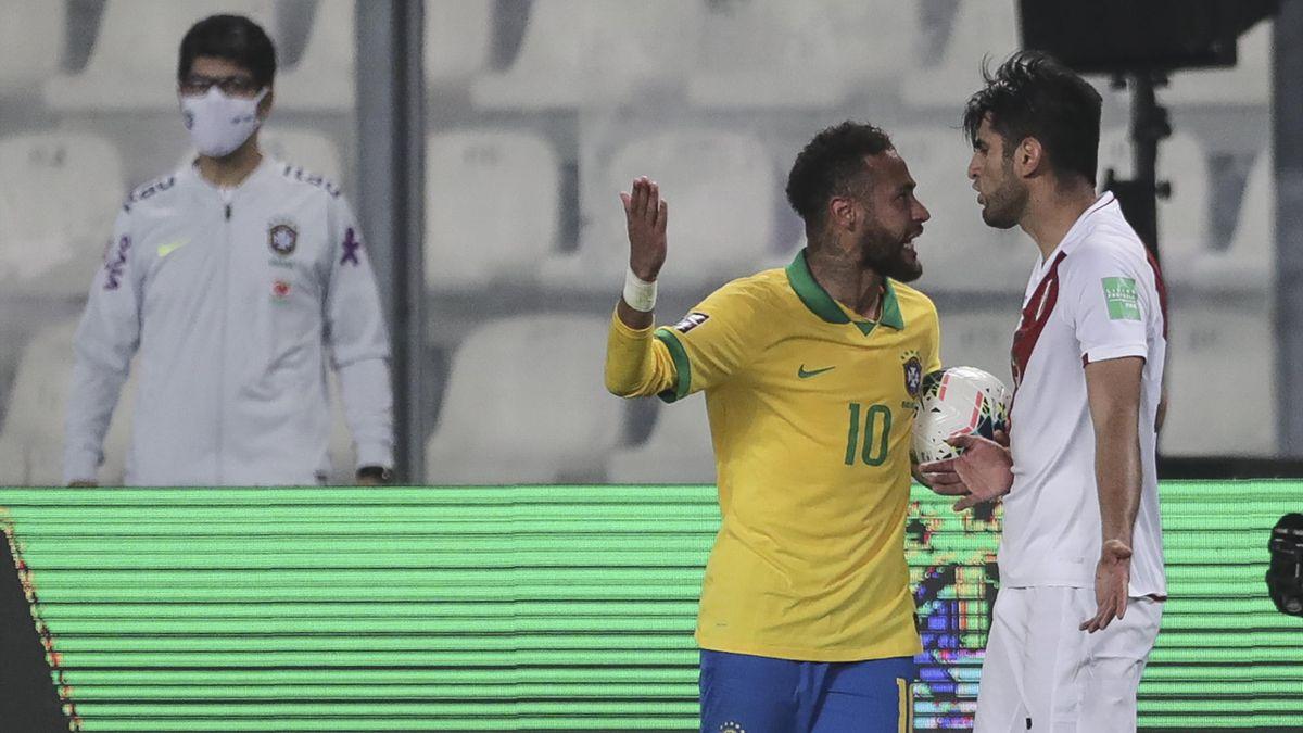 Neymar (l.) und Zambrano (r.)