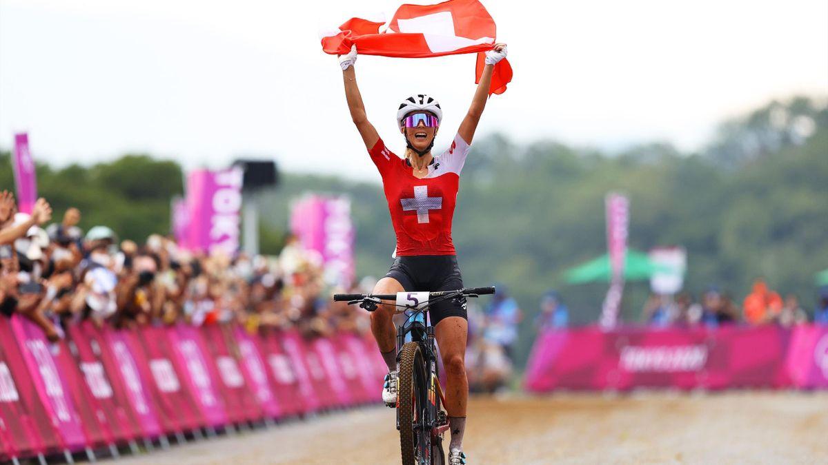 Jolanda Neff gewinnt Gold im Cross Country.